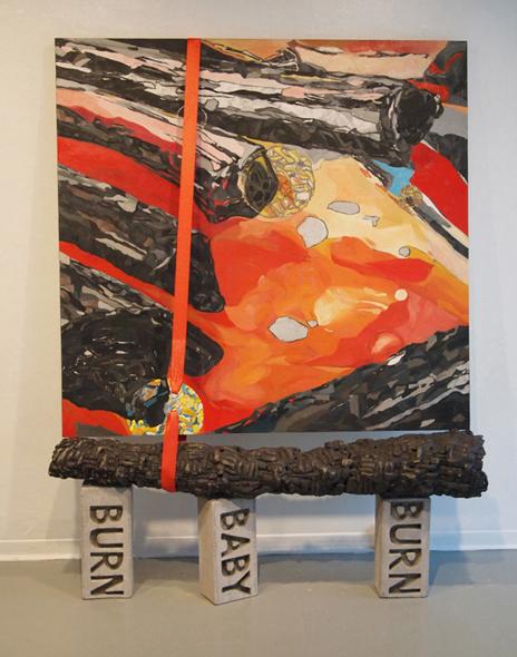 BURN, 2009.  152 cm x 213 cm x 30.5 cm.