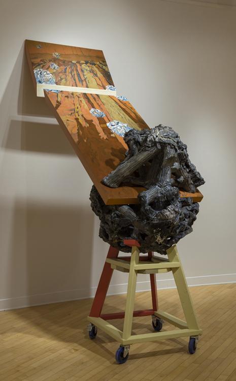 Bluffappropriation, 2011.    102 cm x 270 cm.