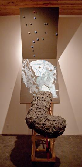 curl, 2010.  246 cm x 152 cm x 104 cm