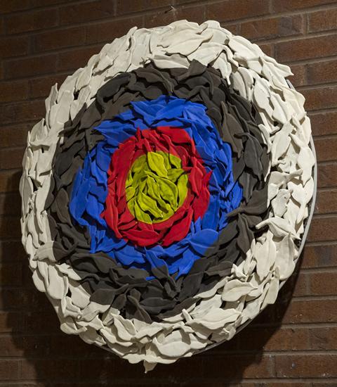 Fall Target, 2013 - 92 cm diameter. Collection Ville de Montréal.