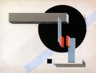 1925 Proun N 89 collage- tempera 50 x 65 cm