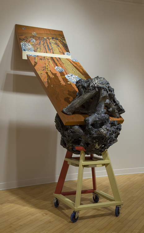Bluffappropriation, 2011.    102 cm x 270 cm.