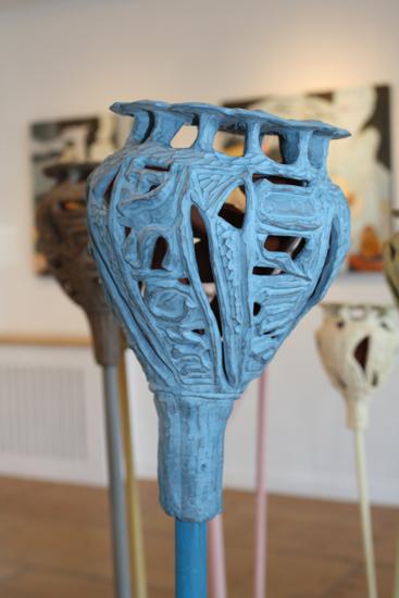 poppy husk (céramique)- exposition Ofrrandes, 2009.
