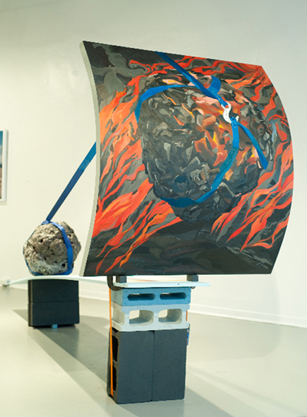 Projection, 2010. 	 305 cm x 92 cm x 203 cm.