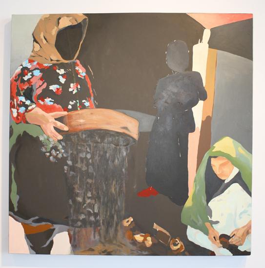 huile sur panneau de bois, 2009.  92 cm x 92 cm
